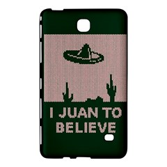 I Juan To Believe Ugly Holiday Christmas Green Background Samsung Galaxy Tab 4 (7 ) Hardshell Case