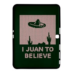 I Juan To Believe Ugly Holiday Christmas Green background Samsung Galaxy Tab 4 (10.1 ) Hardshell Case