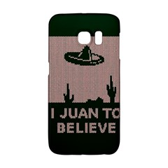 I Juan To Believe Ugly Holiday Christmas Green Background Galaxy S6 Edge