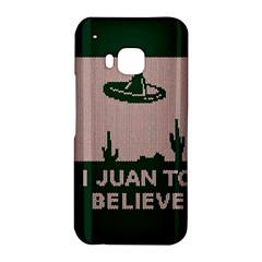I Juan To Believe Ugly Holiday Christmas Green background HTC One M9 Hardshell Case