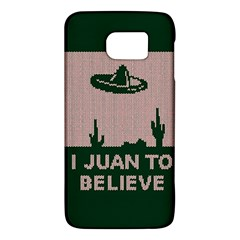 I Juan To Believe Ugly Holiday Christmas Green background Galaxy S6