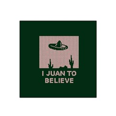 I Juan To Believe Ugly Holiday Christmas Green background Satin Bandana Scarf