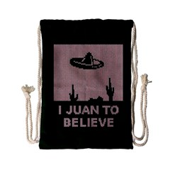 I Juan To Believe Ugly Holiday Christmas Green background Drawstring Bag (Small)