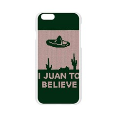 I Juan To Believe Ugly Holiday Christmas Green background Apple Seamless iPhone 6/6S Case (Transparent)