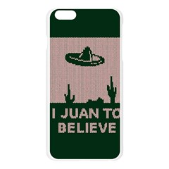 I Juan To Believe Ugly Holiday Christmas Green background Apple Seamless iPhone 6 Plus/6S Plus Case (Transparent)