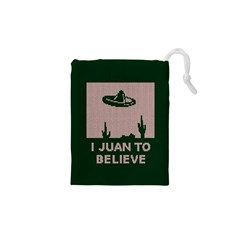 I Juan To Believe Ugly Holiday Christmas Green background Drawstring Pouches (XS)