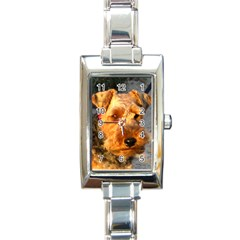 Welch Terrier Rectangle Italian Charm Watch