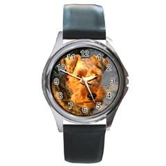 Welch Terrier Round Metal Watch