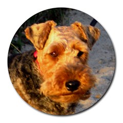 Welch Terrier Round Mousepads