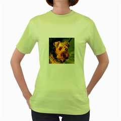 Welch Terrier Women s Green T-Shirt