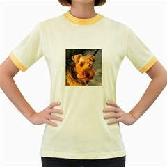 Welch Terrier Women s Fitted Ringer T-Shirts