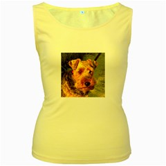 Welch Terrier Women s Yellow Tank Top