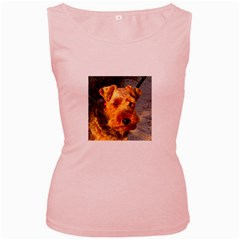Welch Terrier Women s Pink Tank Top