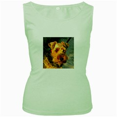 Welch Terrier Women s Green Tank Top