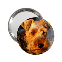 Welch Terrier 2.25  Handbag Mirrors