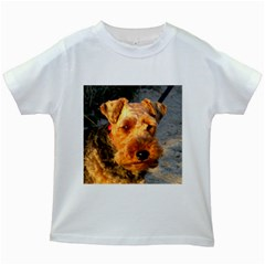 Welch Terrier Kids White T-Shirts