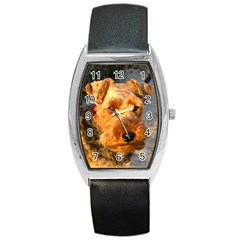 Welch Terrier Barrel Style Metal Watch