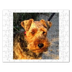 Welch Terrier Rectangular Jigsaw Puzzl