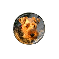 Welch Terrier Hat Clip Ball Marker (4 pack)