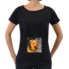 Welch Terrier Women s Loose-Fit T-Shirt (Black)