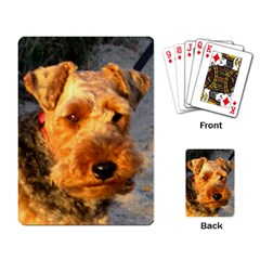 Welch Terrier Playing Card