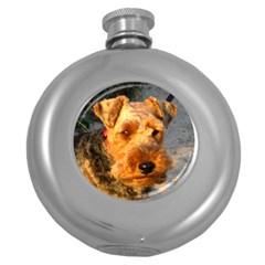 Welch Terrier Round Hip Flask (5 oz)