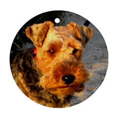 Welch Terrier Round Ornament (Two Sides)