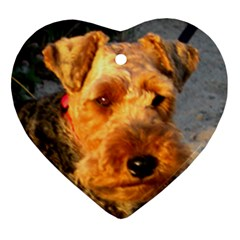 Welch Terrier Heart Ornament (2 Sides)