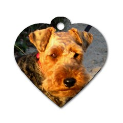 Welch Terrier Dog Tag Heart (One Side)