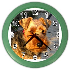 Welch Terrier Color Wall Clocks