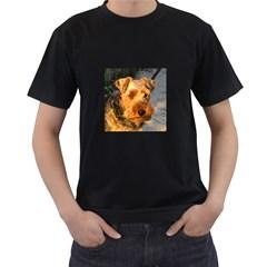 Welch Terrier Men s T-Shirt (Black)