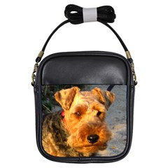 Welch Terrier Girls Sling Bags