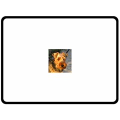 Welch Terrier Fleece Blanket (Large)