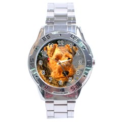 Welch Terrier Stainless Steel Analogue Watch