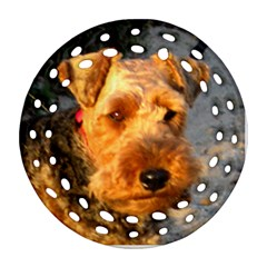 Welch Terrier Round Filigree Ornament (2Side)