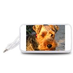 Welch Terrier Portable Speaker (White)