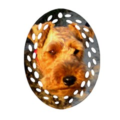 Welch Terrier Ornament (Oval Filigree)