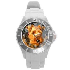 Welch Terrier Round Plastic Sport Watch (L)