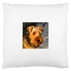 Welch Terrier Large Cushion Case (Two Sides)