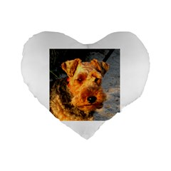 Welch Terrier Standard 16  Premium Heart Shape Cushions