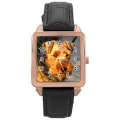 Welch Terrier Rose Gold Leather Watch