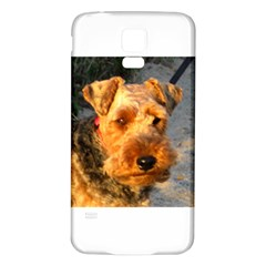 Welch Terrier Samsung Galaxy S5 Back Case (White)