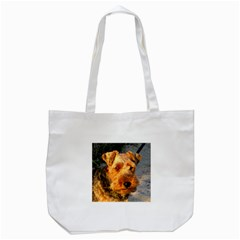 Welch Terrier Tote Bag (White)