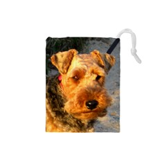 Welch Terrier Drawstring Pouches (Small)