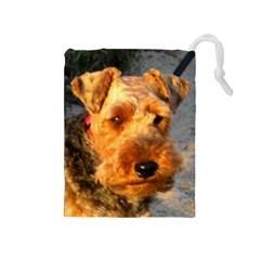 Welch Terrier Drawstring Pouches (Medium)