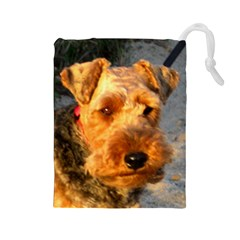 Welch Terrier Drawstring Pouches (Large)