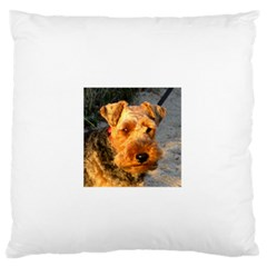 Welch Terrier Large Flano Cushion Case (Two Sides)