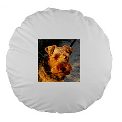 Welch Terrier Large 18  Premium Flano Round Cushions