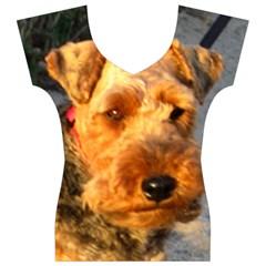 Welch Terrier Women s V-Neck Cap Sleeve Top
