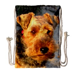 Welch Terrier Drawstring Bag (Large)